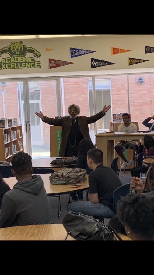 Frederick Douglass Visits BHS