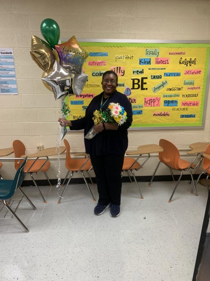 Dr. Hill, 2021 Teacher of the Year  Photo Credit: Taniya Turner